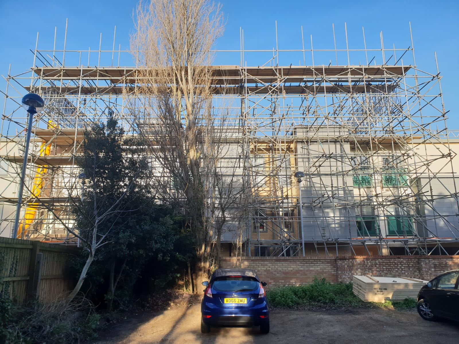 Earls Scaffolding - Access & Temporary Roof Scaffolding - Huntingdon Care Home - Industrial Scaffolding v16