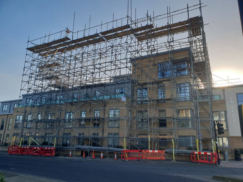 Earls Scaffolding - Access & Temporary Roof Scaffolding - Huntingdon Care Home - Industrial Scaffolding v9